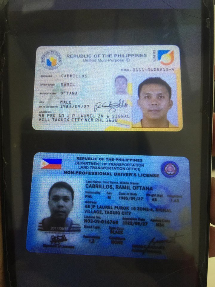 TURN-OVER OF CELLPHONE & ID