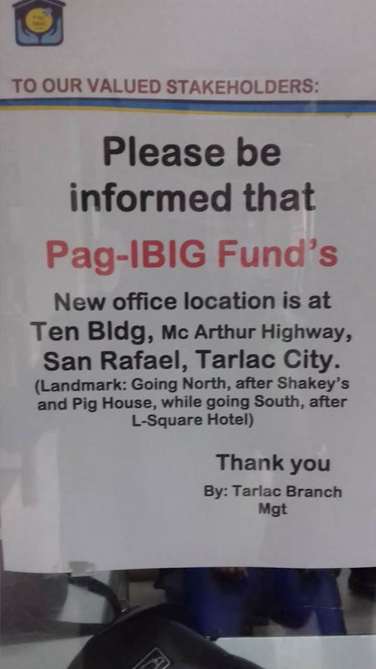Pag-ibig Fund's New Office Location