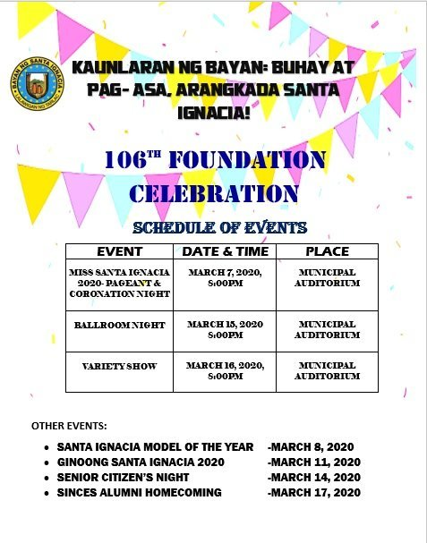 106th Foundation Celebration for March 2020