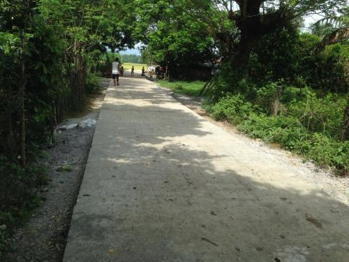 Concreting of barangay road @ Happy Valley Barangay San Vicente, Santa Ignacia, Tarlac