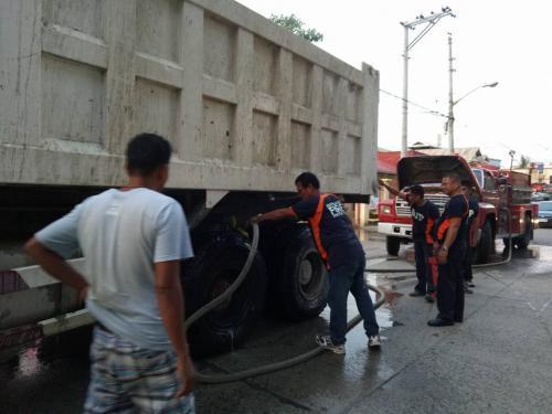 Responded Vehicular Fire Incident, Dump Truck