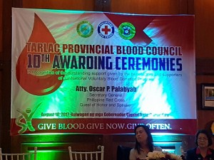 Congratulations Mayor Nora T. Modomo and Santa Ignacia for recieving an Award of Appreciation during Tarlac Provincial Blood Council 10th Awarding Ceremonies (15)