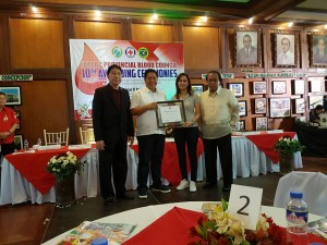 Congratulations Mayor Nora T. Modomo and Santa Ignacia for recieving an Award of Appreciation during Tarlac Provincial Blood Council 10th Awarding Ceremonies (2)