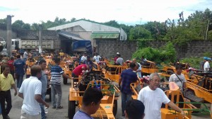 Distribution and Blessing of 24 units Hand Tractors for each barangay, 12 units of Grass Cutters and 2 Units of Mini Dump Trucks (10)
