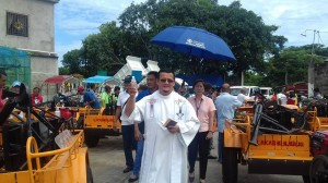 Distribution and Blessing of 24 units Hand Tractors for each barangay, 12 units of Grass Cutters and 2 Units of Mini Dump Trucks (11)