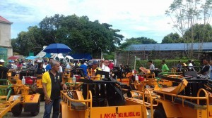 Distribution and Blessing of 24 units Hand Tractors for each barangay, 12 units of Grass Cutters and 2 Units of Mini Dump Trucks (2)