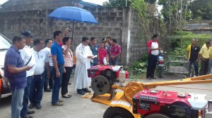 Distribution and Blessing of 24 units Hand Tractors for each barangay, 12 units of Grass Cutters and 2 Units of Mini Dump Trucks (4)