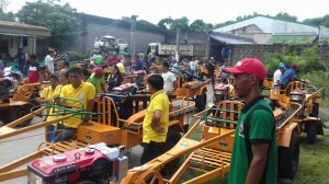 Distribution and Blessing of 24 units Hand Tractors for each barangay, 12 units of Grass Cutters and 2 Units of Mini Dump Trucks (8)