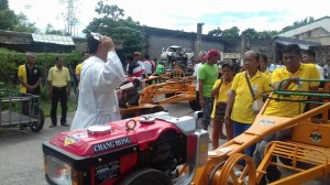 Distribution and Blessing of 24 units Hand Tractors for each barangay, 12 units of Grass Cutters and 2 Units of Mini Dump Trucks (9)