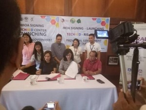 MOA Signing and TECH4ED Center Launching of the Provincial Government of Tarlac. One of the beneficiary is Barangay Vargas, Santa Ignacia, Tarlac (2)