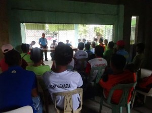 PNP personnel of Santa Ignacia Police Station led by SPO4 ROEL I DOMINGO, MESPO conducted barangay visitation  (3)