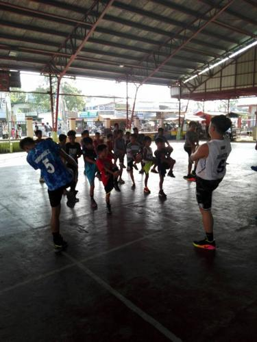 1st day of Basic Basketball Clinic  Training ng mga Under 12 Years Old sa Santa Ignacia Covered Court (4)