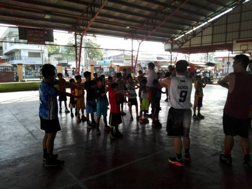1st day of Basic Basketball Clinic  Training ng mga Under 12 Years Old sa Santa Ignacia Covered Court (5)