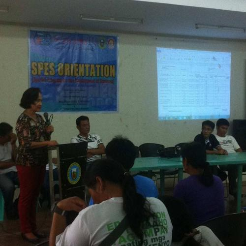 An Orientation to the beneficiaries and guardians of Special Program for the Employment of Students (SPES) Project (1)
