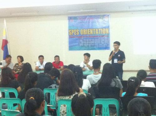 An Orientation to the beneficiaries and guardians of Special Program for the Employment of Students (SPES) Project (11)