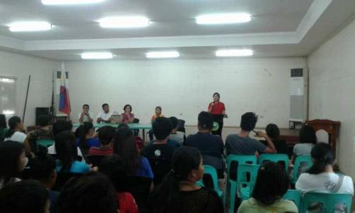 An Orientation to the beneficiaries and guardians of Special Program for the Employment of Students (SPES) Project (16)