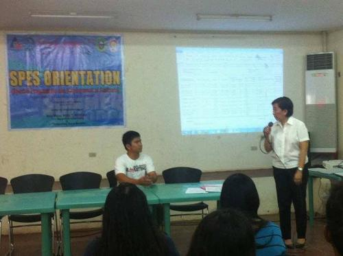 An Orientation to the beneficiaries and guardians of Special Program for the Employment of Students (SPES) Project (17)