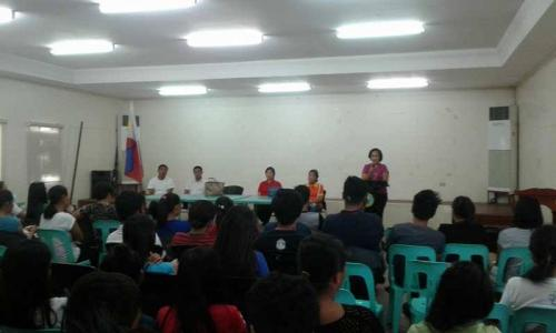 An Orientation to the beneficiaries and guardians of Special Program for the Employment of Students (SPES) Project (2)