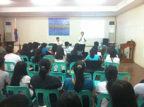 An Orientation to the beneficiaries and guardians of Special Program for the Employment of Students (SPES) Project (25)