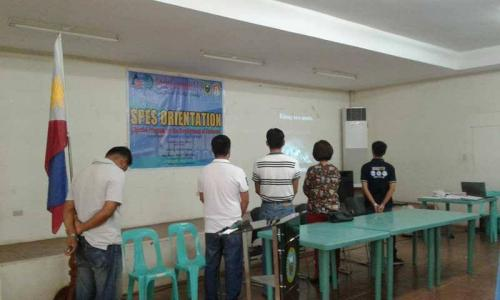 An Orientation to the beneficiaries and guardians of Special Program for the Employment of Students (SPES) Project (5)