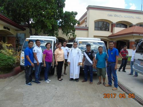 Blessing and awarding of the two RESCUE VEHICLES for Brgy. Poblacion West and Brgy. Taguiporo (2)