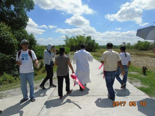 Blessings and inauguration of the road in Purok Pao, the Footbridge in Purok 6, and Improvement of the Barangay Plaza in Nambalan (3)