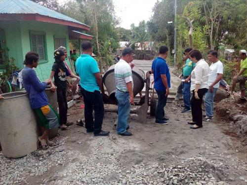 Inspection of concreting of barangay road at Poblacion East - Santa Ignacia (1)