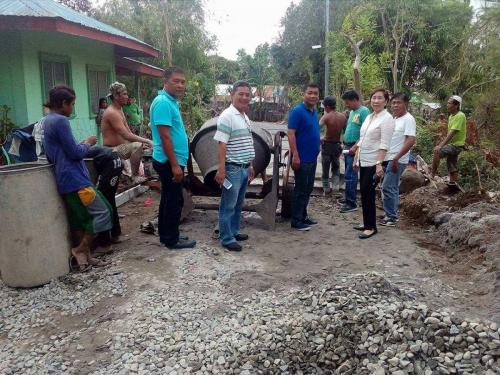 Inspection of concreting of barangay road at Poblacion East