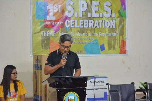 PESO Coordinator Mr. Julius Roque celebrates 1st anniversary Celebration of the Santa Ignacia SPES Beneficiaries Organization (8)
