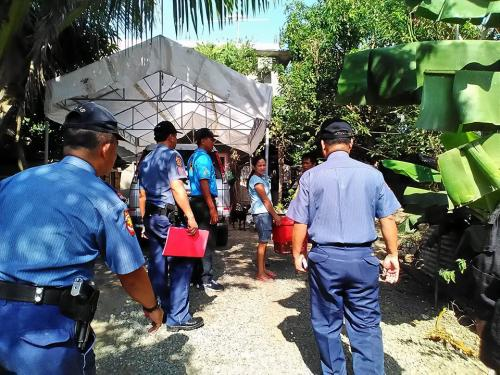 PNP personnel of Santa Ignacia Police Station led by PCINSP ERNIE M GUARIN, Chief of Police together with Pastor Odarlico Gamponia and Brgy. Capt Orlando Cosme conducted house visitation (re (1)