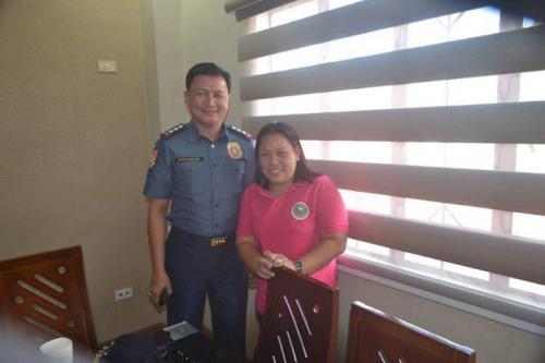 PSSUPT Ritchie Medardo Posadas, Tarlac Provincial Police Office OIC,paid a courtesy call to Mayor Nora Modomo (2)