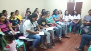 1st meeting of Santa Ignacia Women's Association for Development with very supportive Mayor Hon. Nora Modomo