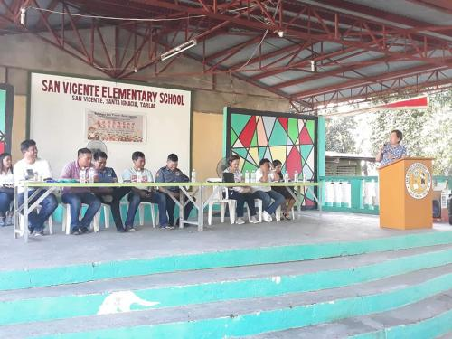 Barangay Assembly at San Vicente.