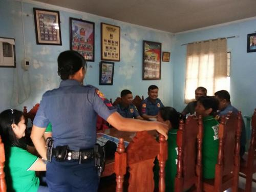 Chief of Police conducted barangay visitation and dialogue to the Barangay Officials and Barangay Health Worker