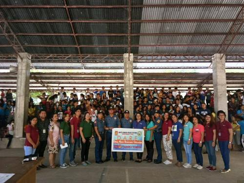 Chief of Police conducted school visitation and lecture on Drug Abuse Resistance and Education and RA 7610 to the teachers and students of Vargas High School
