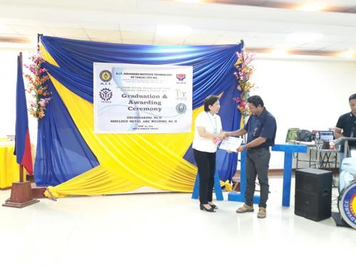 GRADUATION AND AWARDING CEREMONY- DRESSMAKING (NCII) AND WELDING (NCII). JUNE 4, 2018