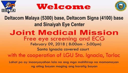 Joint Medical Mission of Delta Signa Base and Sinaiyah Eye Center