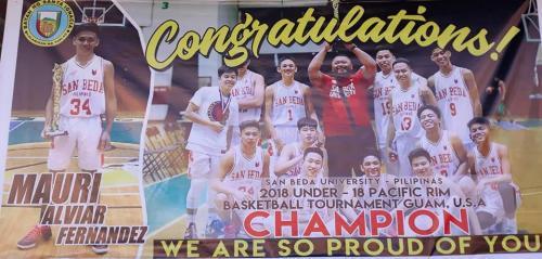 Mabuhay ka Mauri Alviar Fernandez & Team San Beda University - Pilipinas!
