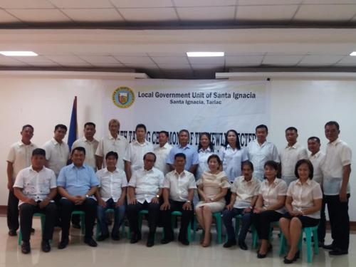 Mass Oathtaking of Barangay & SK Officials 06/30/2018