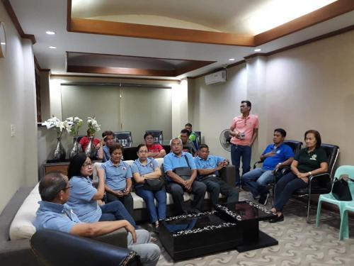 Meeting with Mayor Nora Modomo, the Municipal Councilors with SIWAD Manager Mina Joy Acuzar and the Board of Directors.