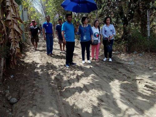 Muling Binisita at Nagsagawa ng Ocular Inspection si Mayor Nora Modomo at mga Miyembro ng Sangguniang Bayan sa Purok Norte, Barangay Caanamongan