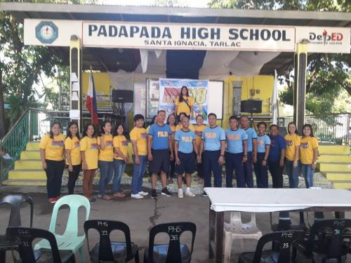 On May 24, 2018 at about 7:00 o'clock in the morning, PNP personnel of Santa Ignacia Police Station led by SPO4 ROEL I DOMINGO, MESPO participated the Brigada Eskwela 2018