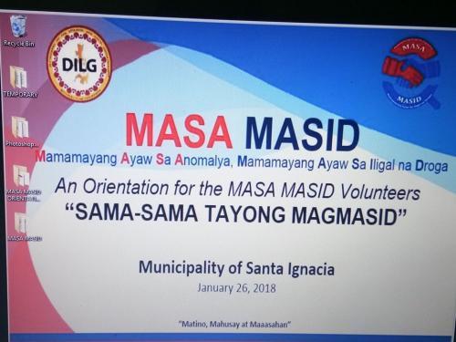 "Orientation for the MASA MASID Volunteers "" Sama-Sama Tayong Magmasid"""