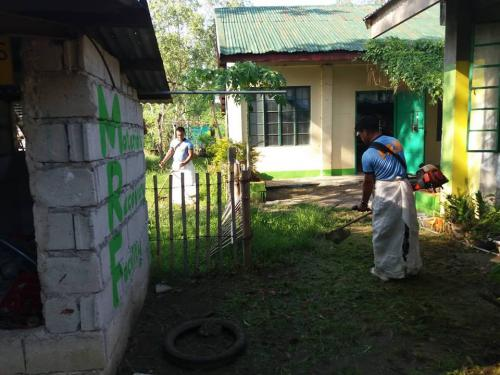 PNP personnel of Santa Ignacia Police Station led by PCINSP BANDUAREZ L LINGALING, Officer-in-Charge participated the Brigada Eskwela 2018