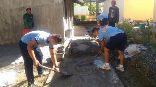 PNP personnel of Santa Ignacia Police Station led by SPO2 Rodrigo Fabros, Patrol Supervisor participated the Brigada Eskwela 2018