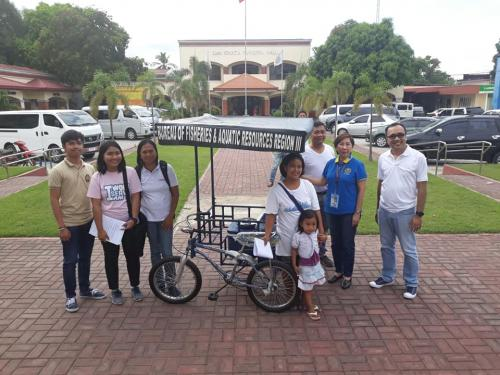Pangkabuhayan Tribike granted by BFAR REGION 3 - Post Harvest Division thru the initiative of Mayor Nora Modomo