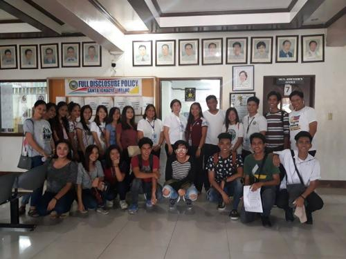 Payment of 60% salary (Php 5,090.00 each) of 26 SPES beneficiaries (1st Batch) in LGU Santa Ignacia with Mayor Nora Modomo