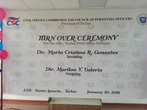 Turn Over Ceremony of New Director Maria Cristina Gonzalez