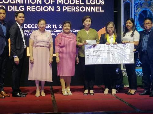 A Php 2.3 Million Performance Challenge Fund (PCF) Incentive from DILG was Awarded to Our Municipal Mayor Nora Modomo