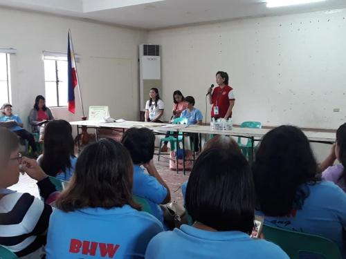 Barangay Health Workers Monthly Meeting
